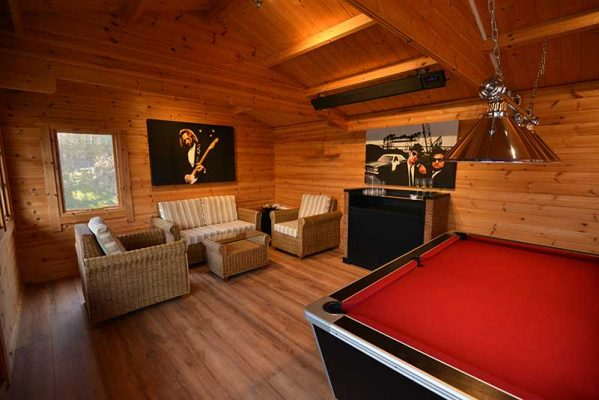 Infrared Heating for Log Cabin