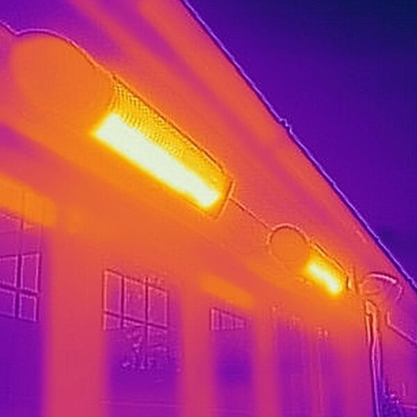 thermal image outdoor high powered heater