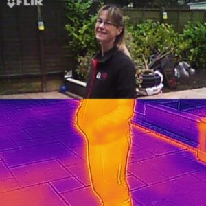 Thermal image of outdoor heater